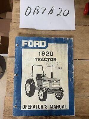 Oem Original Ford Operator Owners Tractor Manual 1920