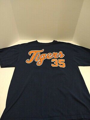 #35 Justin Verlander DETROIT TIGERS Baseball Sports Jersey T-shirt Men's LARGE -