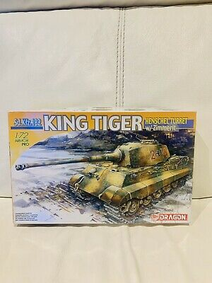 DRAGON 7240 1/72 King Tiger Sd.kfz.182 (henschel Turret) W/zimmerit