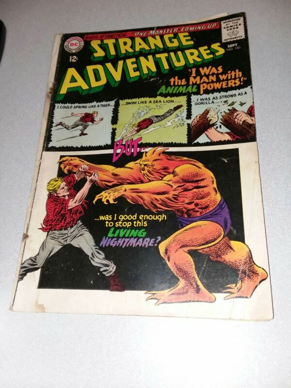 STRANGE ADVENTURES #180 dc comics 1965 Silver Age Key 1st ANIMAL MAN Appearance