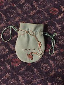 Tiffany silver elephant necklace