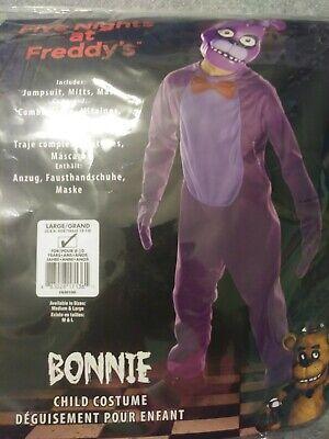 Fnaf Bonnie Halloween Costume (Five Nights Freddy's Character Costume FNAF Halloween Bonnie Youth Large 12-14)