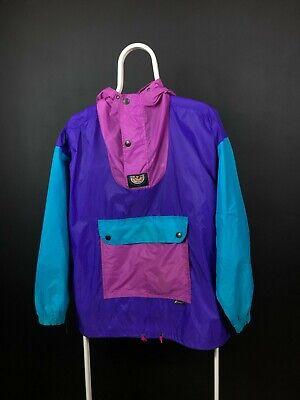 K-WAY Vintage Windbreaker Raincoat Jacket Size S Colorblock