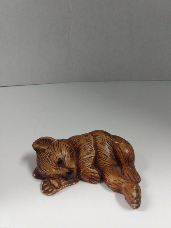 Adorable Vintage Brown Bear figurine