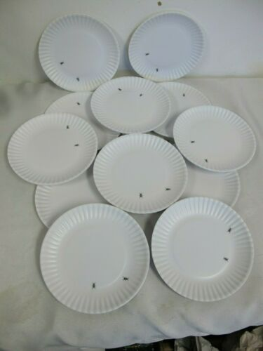 WHAT IS IT ?  MELAMINE ANT PLATES (12)   DESSERT ONE HUNDRED  180 DEGREE