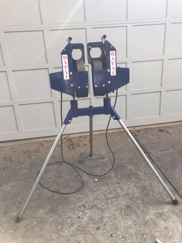 BATA-1 Twin Pitch Pitching Machine -Softball Baseball/Combo - 24 Softballs-cover