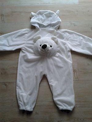 Eisbär Baby Kleinkind Kostüm Babykostüm Tierkostüm, sehr guter Zustand ()