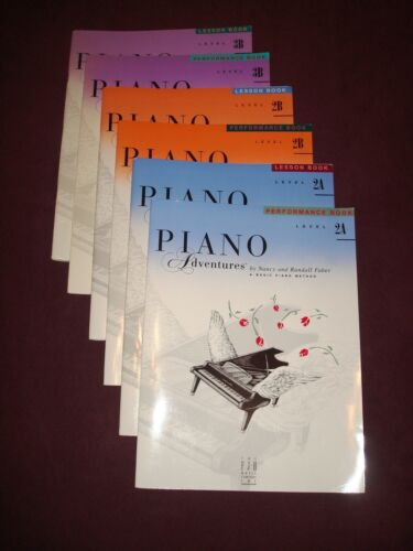 Lot of 6 PIANO ADVENTURES Books by Nancy & Randall Faber - Lesson & Performance