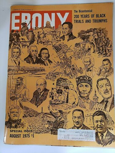 Vintage Bicentennial Ebony magazine EUC August 1975