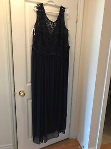 Bridesmaid Dress Size 26 Long - No Alterations Marine Blue