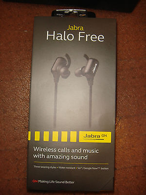 Jabra Halo Free Wireless Bluetooth Stereo Earbuds  - Black- Brand New & Sealed! for sale  Shipping to India