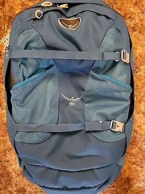 osprey farpoint 40 small/med travel backpack blue