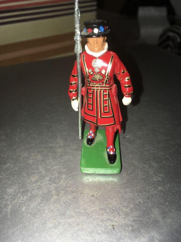 "1990 Metal Beefeater Figurine 2 3/8"" High Britains"