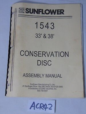 Assembly Manual Farm Book Sunflower 1543 Conservation Disc 33 38