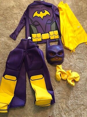 Make Bat Costume Halloween (NEW girls LEGO BRAND HALLOWEEN COSTUME BATGIRL bat 6 PC complete SIZE size)