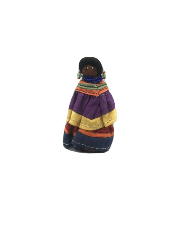 Vintage Florida Seminole Native American Folk Art Doll Figurine Palmetto