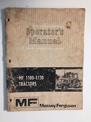 Massey-ferguson Mf 1100 1130 Tractor Operators Owners Instruction Manual Book