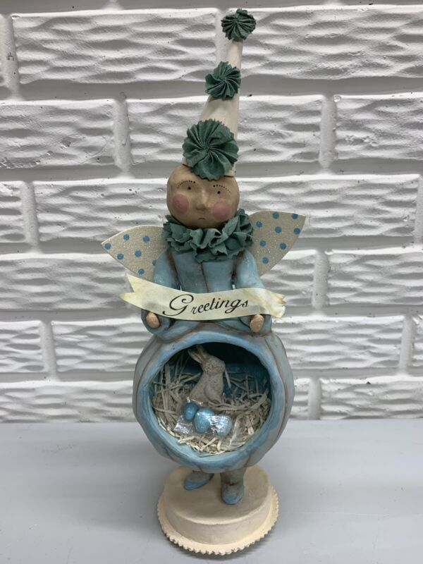 """Vintage Dee Foust for Bethany Lowe Designs 15""""Easter Blessings Angel Diorama"""