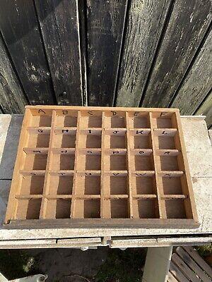 Small Print Letterpress Tray Display unit