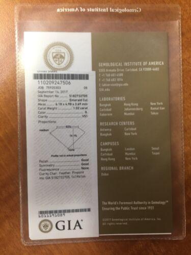 1.87 CARAT G VS1 GIA CERTIFIED EMERALD CUT DIAMOND ENGAGEMENT RING IN PLAT950 3