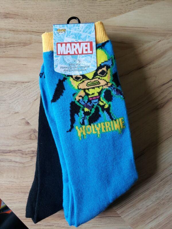 Funko POP! Marvel: X-Men Blacklight 3pk Crew Socks - Wolverine, Rogue, Magneto