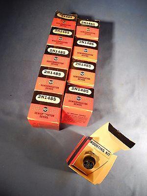 10 Lot Rca 2n1485 Vintage Power Transistors - Nib