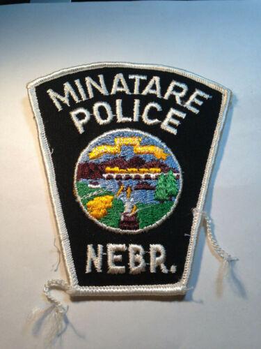 Minatare Nebraska Police Patch--Free Ship