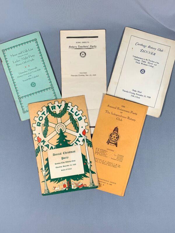 LOT Vtg 1920s Rotary Club Memorbilia