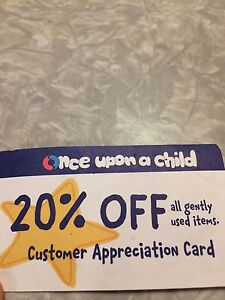 20% off Once Upon a Child