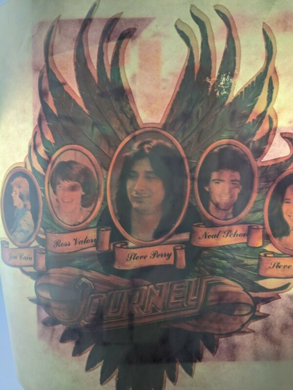 Vintage Journey Band Members Cameo Bust Steve Perry Neal Schon Transfer Decal