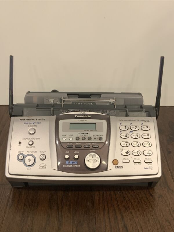 Panasonic KX-FPG391 Fax Copier Answering Machine With Cables