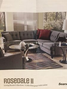 Sectional Leather Couch - Palliser Rosedale II 7 seater