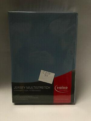 Jersey Multistretch Spannbetttuch 25cm Matratzenhöhe 110x200 -130x220cm M.Blau