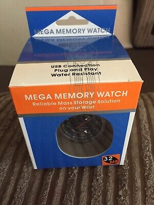 Vintage Mega Memory 32mb Usb Watch New Boxed