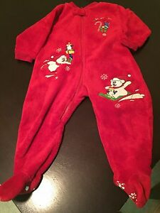 Christmas Sleep suits and bibs, hat & slippers Edmonton Edmonton Area image 3