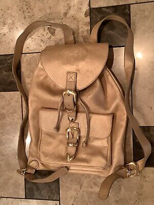 Vintage Gianni Versace Couture Golden Leather Mens / Women's Backpack