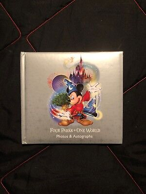 (Disney Four Parks One World Mickey photo album 50 pages, with autographs!!!!!!!!)