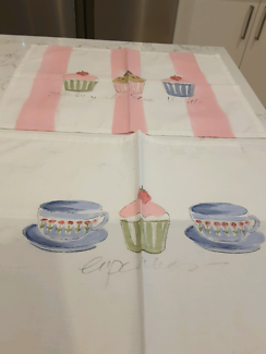 Two afternoon tea  placemats