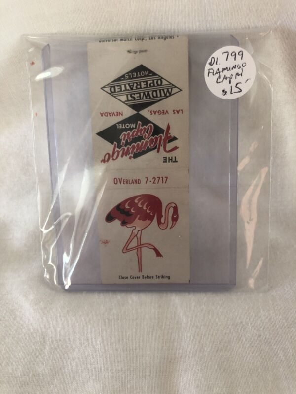Vintage Las Vegas Matchbook Flamingo Capri Unstruck