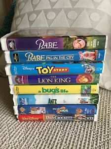 Set of 8 Disney movies on VHS tape