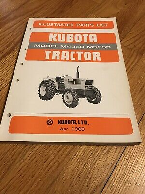 Original Genuine Kubota M4950 M5950 Tractor Parts Book Catalog Manual