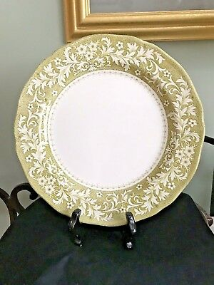 Vintage J&G Meakin Royal Staffordshire Green Sherwood Pattern Dinner Plate for sale  Trussville