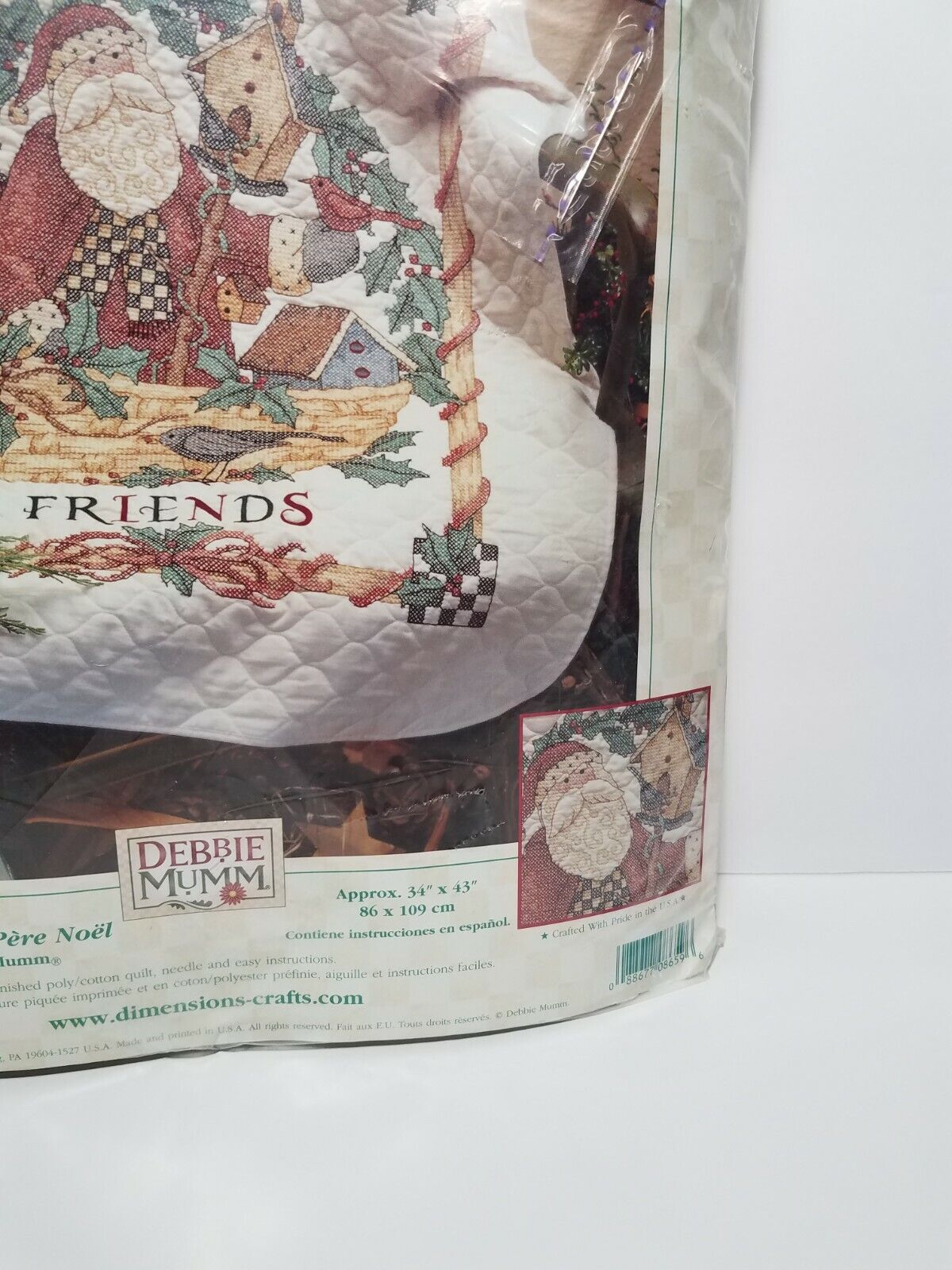 NEW Dimensions Debbie Mumm Holiday SANTA S WELCOME QUILT KIT, Pre-Quilted 8659 - $64.99