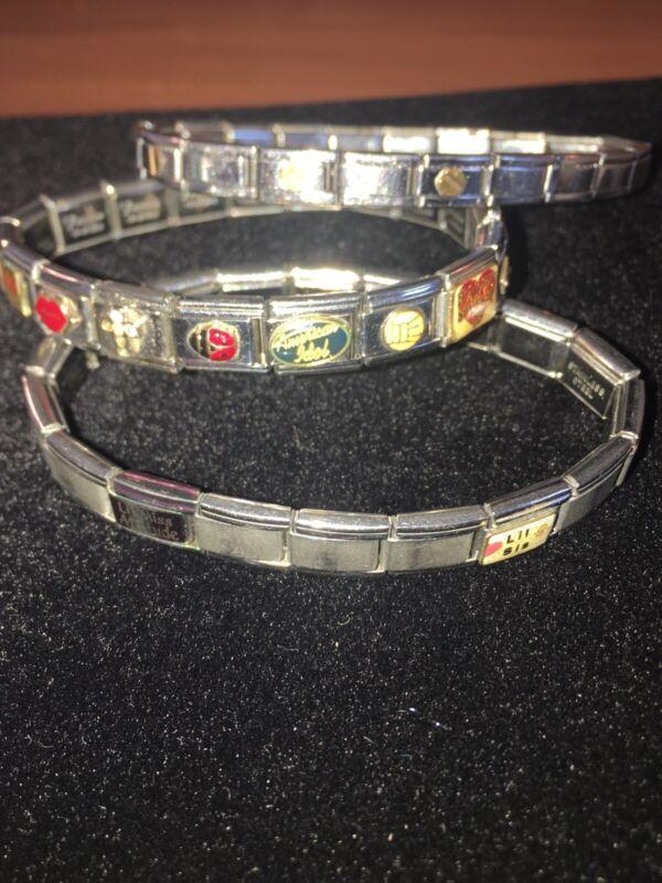 Italian Modular Charm Bracelet Lot of 3