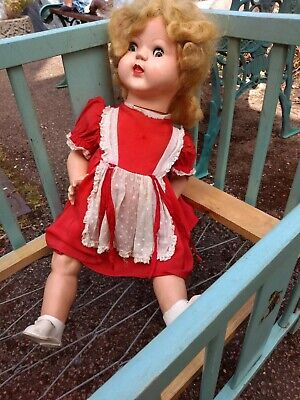"Palitoy 1950's Walking Doll Hard Plastic 20"""