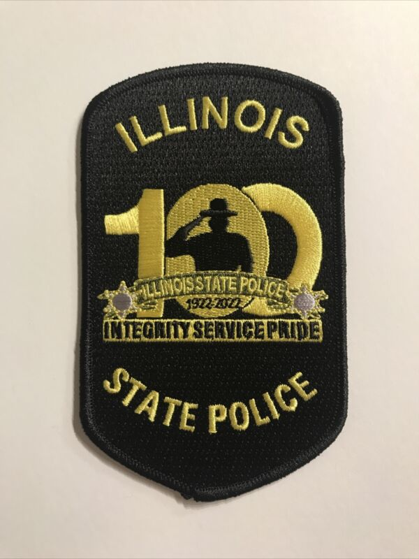 illinois State Police 100 year anniversary patch 1922-2022