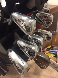 Callaway X tour forged golf irons left handed