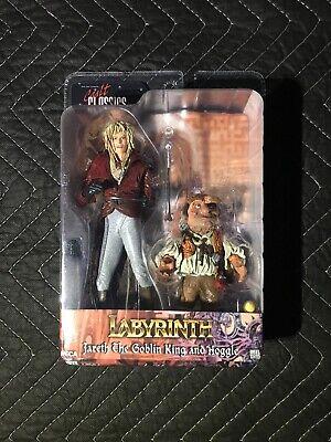 NECA Cult Classics LABYRINTH Jareth the Goblin King & Hoggle Figures David Bowie (King Labyrinth)