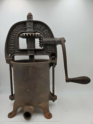 Antique Enterprise Mfg. Co. Sausage Stufferfruit Press Pat. 18761883 Phila. Pa