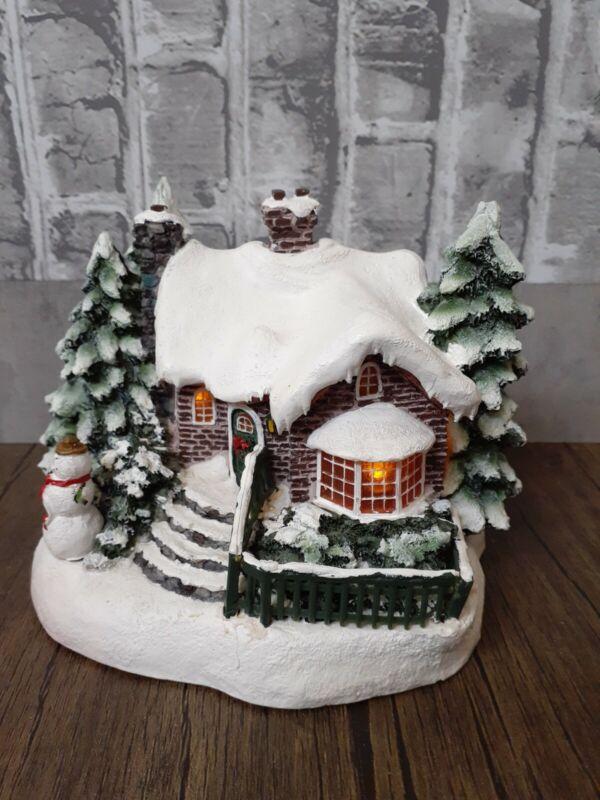 2002 Thomas Kinkade Painter of Light A Village Christmas Teleflora Cottage House